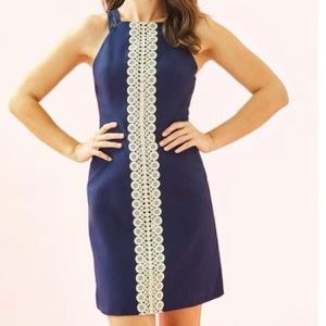 Lily Pulitzer Blue and Gold Dress